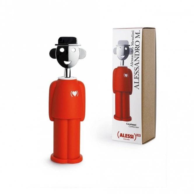 Alessi Alessandro M. Corkscrew (PRODUCT) Red (AM23 RED)