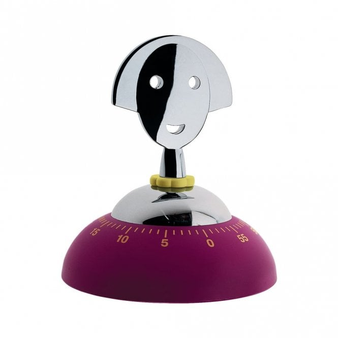 Alessi Anna Time Kitchen Timer Dark Red (AAM09 R)