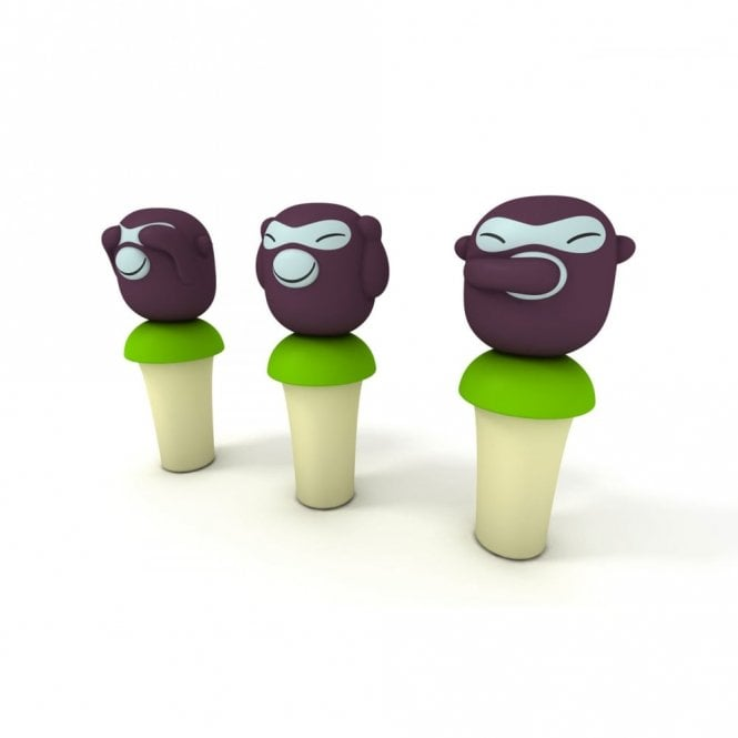 Alessi Banana Boys Set of 3 Stoppers (ASG95 SET)