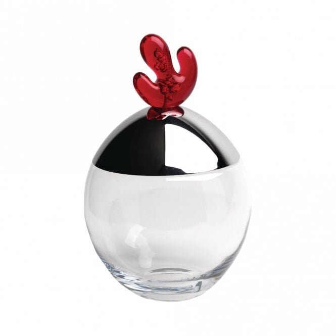 Alessi Big Ovo Biscuit Box Pomegranate Red (JL03 PO)