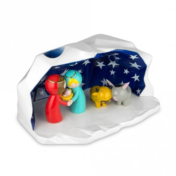 Alessi Crib Happy Eternity Baby Ornament (AGJ01 W)