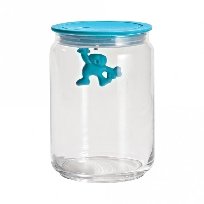 Alessi Gianni A Little Man Holding On Tight Jar Light Blue (AMDR05 AZ)