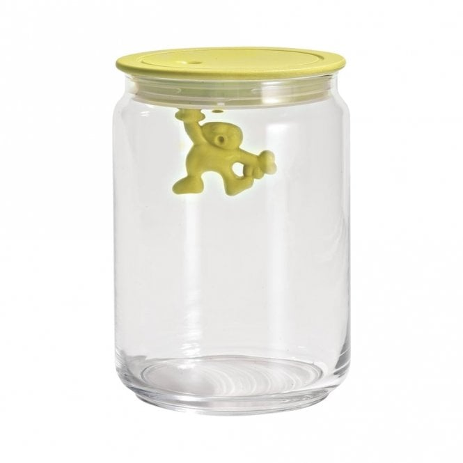 Alessi Gianni A Little Man Holding On Tight Jar Yellow (AMDR05 Y)