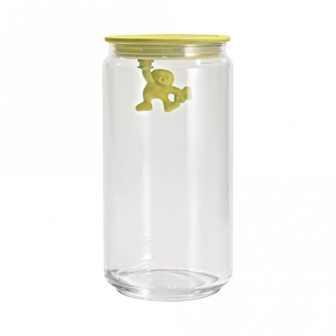 Alessi Gianni A Little Man Holding On Tight Jar Yellow (AMDR06 Y)