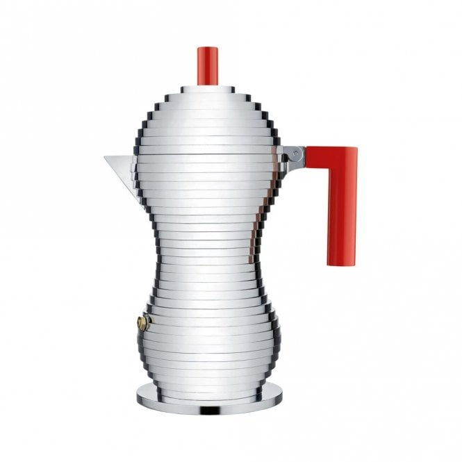 Alessi Pulcina Espresso Coffee Maker Red (MDL02/6 R)