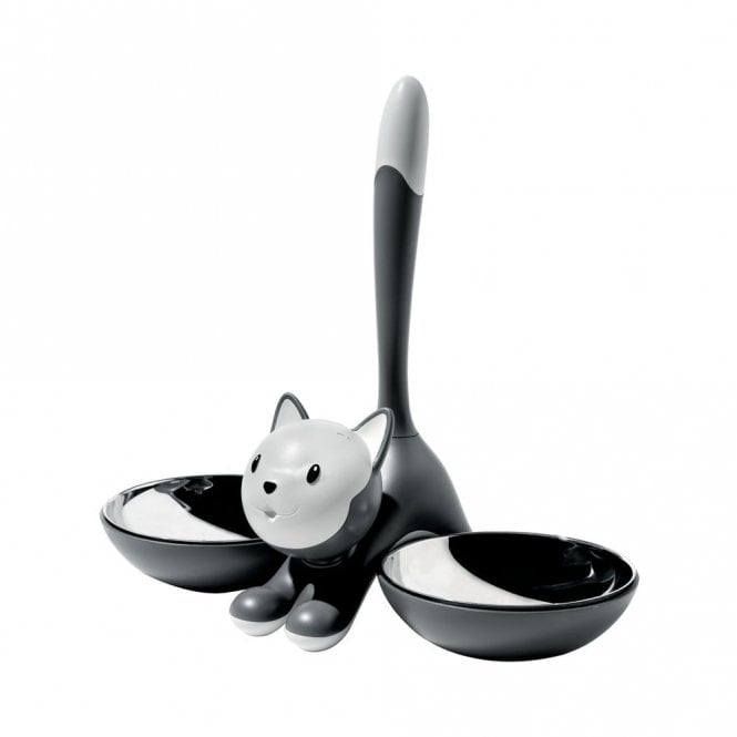 Alessi Tigrito Cat Bowl Grey (AMMI09 G)