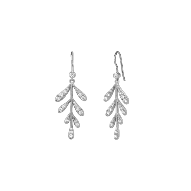byBiehl Forest Sparkle Large Earrings - Silver