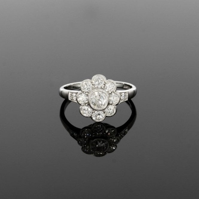 1.17ct Diamond Vintage Deco Platinum