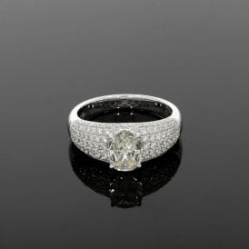 2.14ct Total Diamond 18ct White Gold