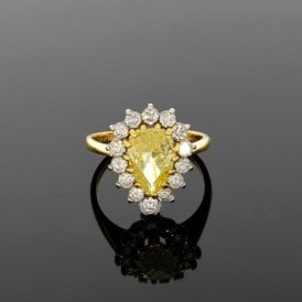 2.61ct Total Yellow Diamond 18ct Yellow Gold