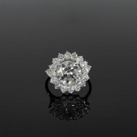 4ct+ Total Pre Owned Vintage Platinum Set