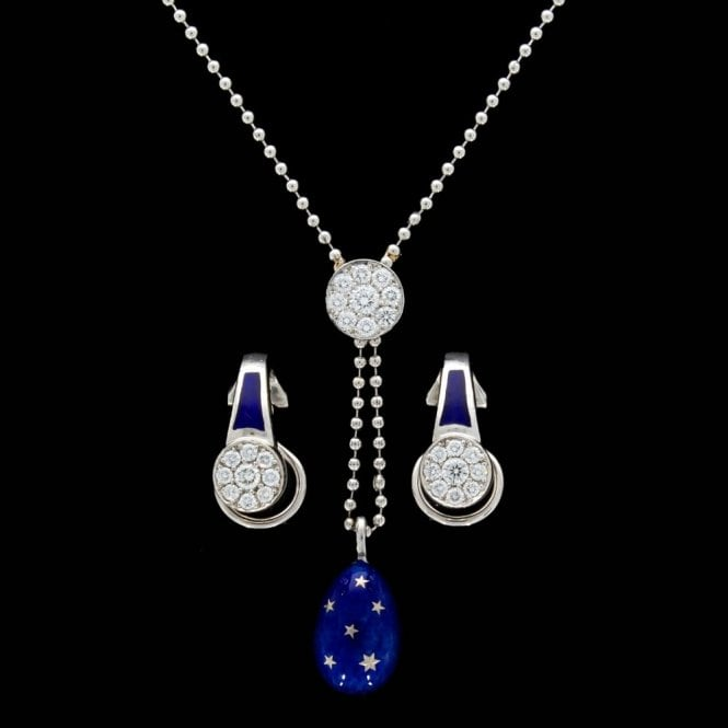 Faberge Necklace and Earrings Set
