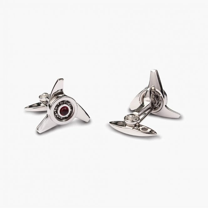 GTO Gallettone Triple Ear Spinner Cufflinks Red (STC11-2)