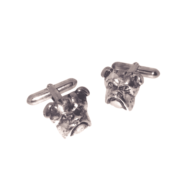 Hallmarked Sterling Silver Bulldog Cufflinks