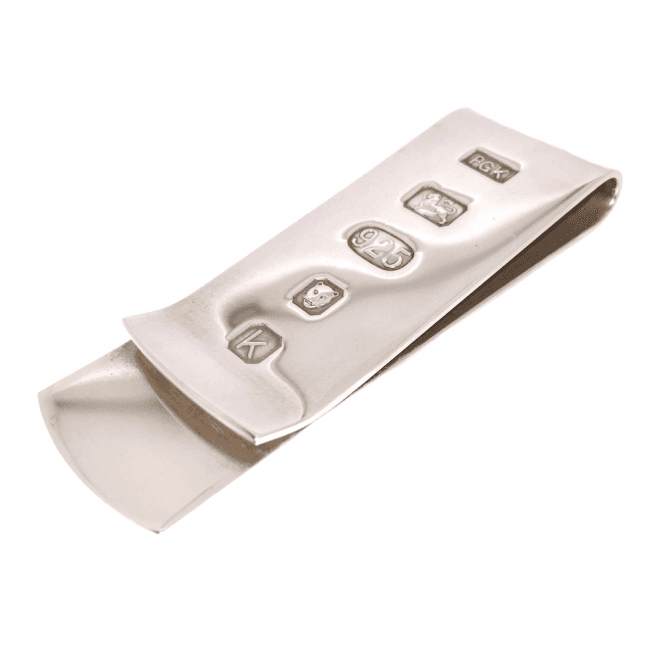Hallmarked Sterling Silver Heavyweight Money Clip