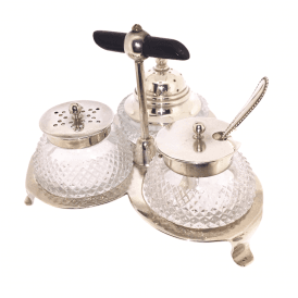 Victorian Salt Pepper and Mustard Cruet