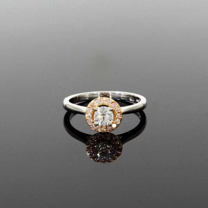Halo Setting Ring 0.40ct Diamond Platinum