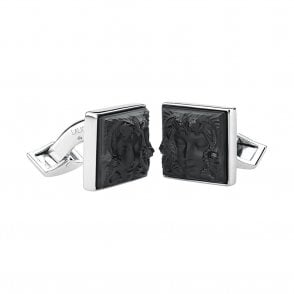 Arethuse Masque De Femme Cufflinks Black (10603500)