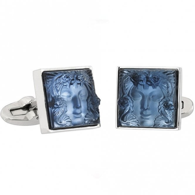 Lalique Arethuse Masque De Femme Cufflinks Blue (10388700)