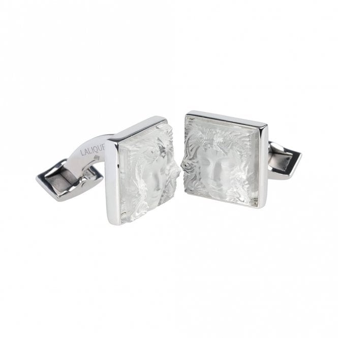 Lalique Arethuse Masque De Femme Cufflinks Clear (10603400)