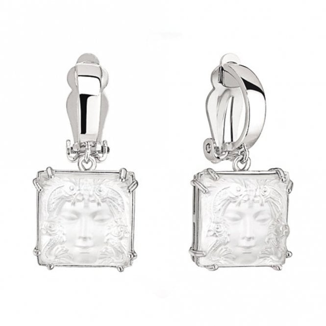 Lalique Arethuse Masque De Femme Earrings Clear (10461200)