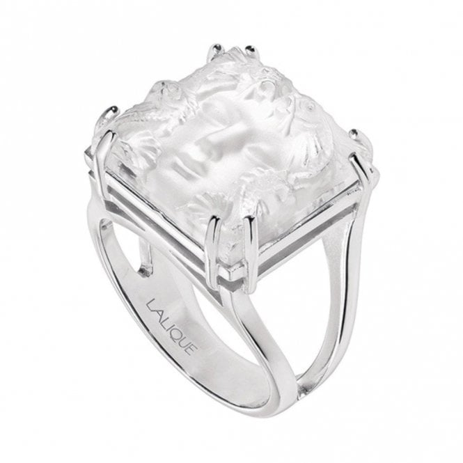 Lalique Arethuse Masque De Femme Ring Clear (10379300)
