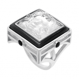 Arethuse Ring Black & Clear (10444700)