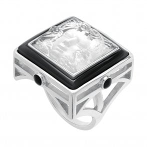 Arethuse Ring Black & Clear (10444800)