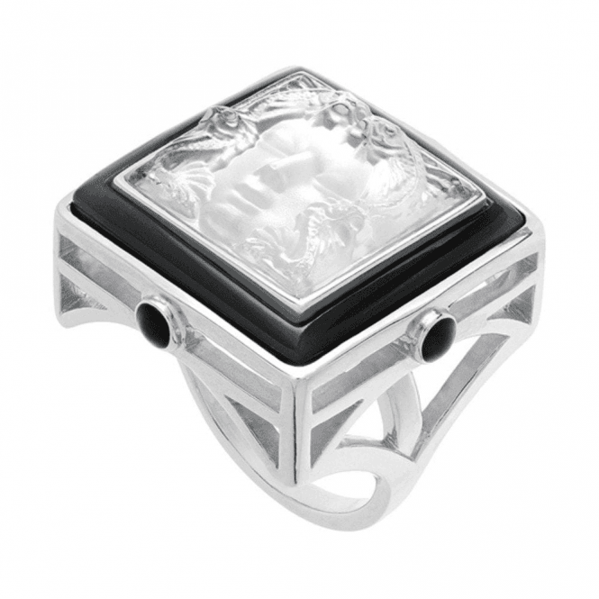 Lalique Arethuse Ring Black & Clear (10444900)