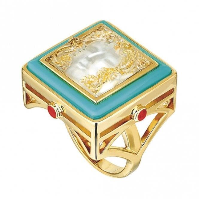 Lalique Arethuse Ring Vermeil & Turquoise (10389300)