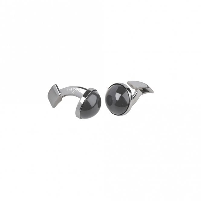 Lalique Cabochon Cufflinks Black (10604100)