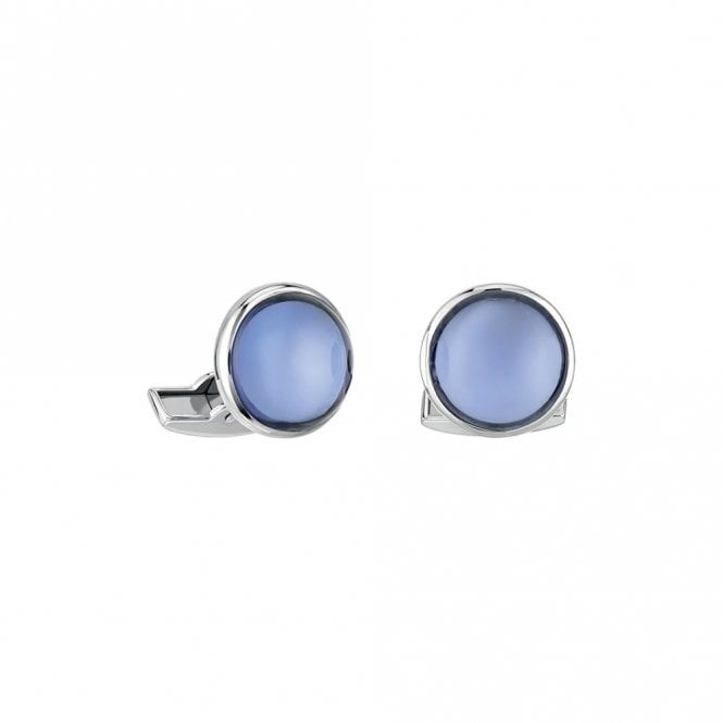 Lalique Cabochon Cufflinks Blue (10604200)