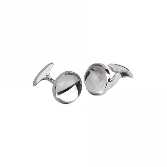 Lalique Cabochon Cufflinks Clear (10604000)