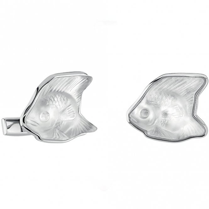 Lalique Fish Cufflinks Clear (10535500)