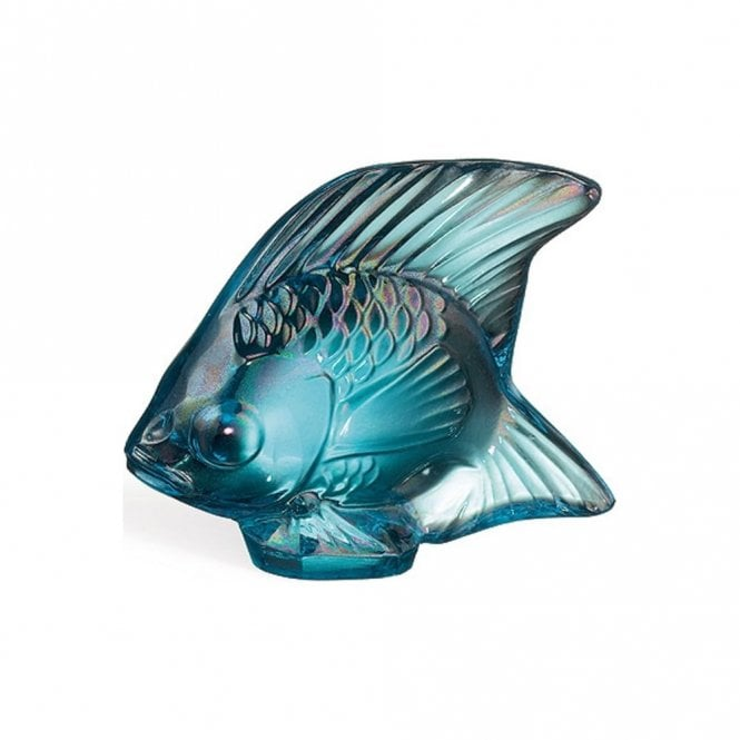 Lalique Fish Turquoise Luster (10205600)
