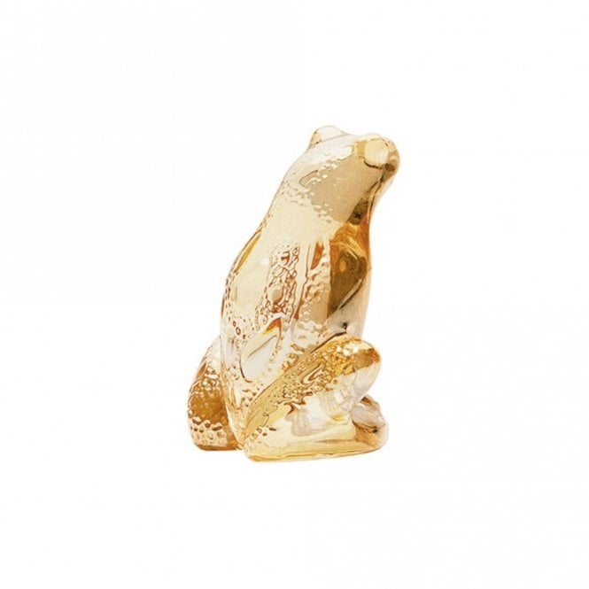 Lalique Frog Rainette Gold Luster (10371600)