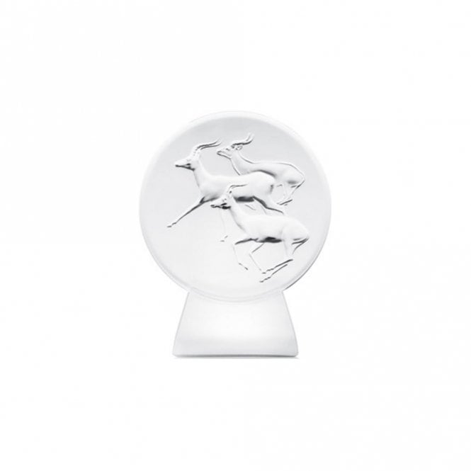 Lalique Goats Chevre Double Auspicious From 3 Rams Paperweight Sculpture (10413100)