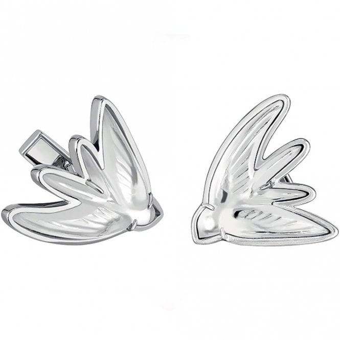 Lalique Hirondelle Swallow Cufflinks Clear (10532600)