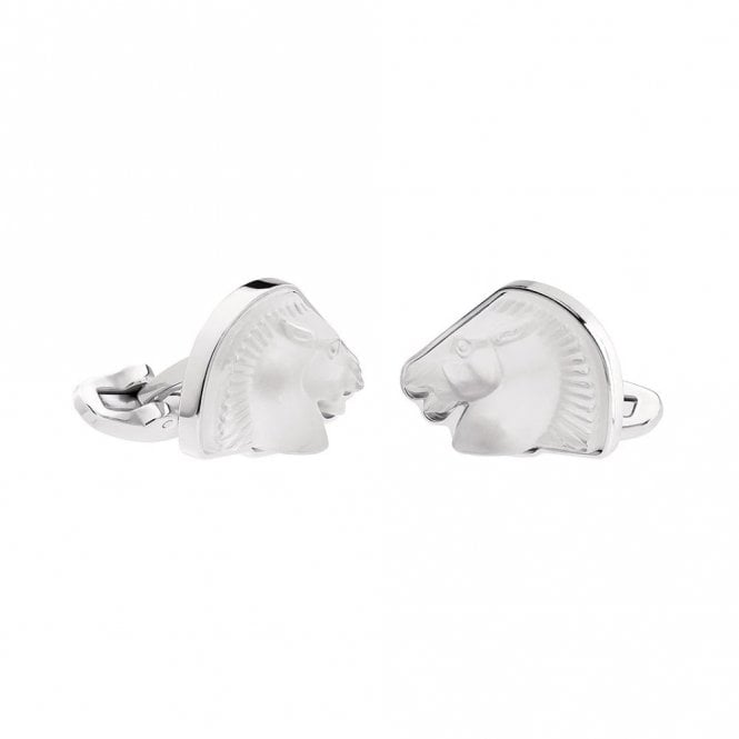 Lalique Mascottes Cheval Horse Cufflinks Clear (10604400)
