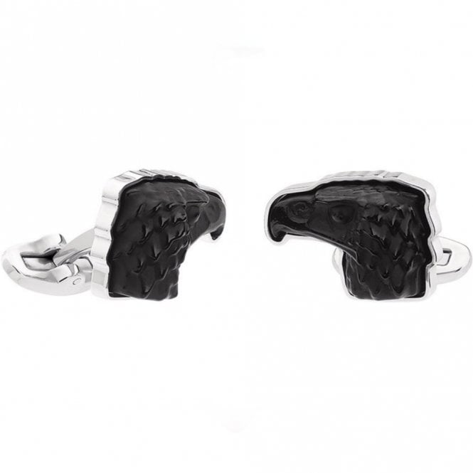 Lalique Mascottes Eagle Cufflinks Black (10337500)