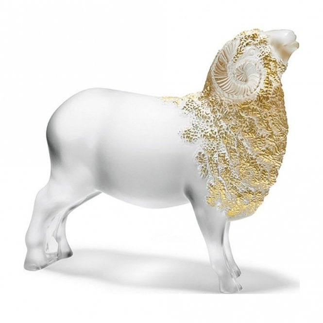 Lalique Ram Belier Gold Stamped (10413000)