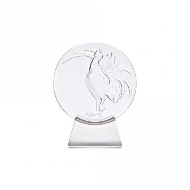 Lalique Rooster Clear Paperweight (10548600)