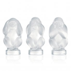 Three Wise Monkeys Wisdom Box Clear (1064800)