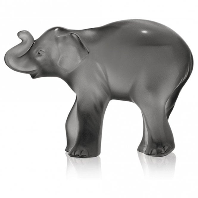 Lalique Timora Baby Elephant Sculpture Grey (10492700)