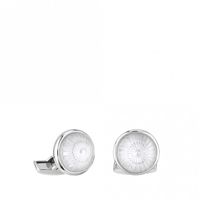 Lalique Toupie Cufflinks Crystal Palladium Clear (10603700)