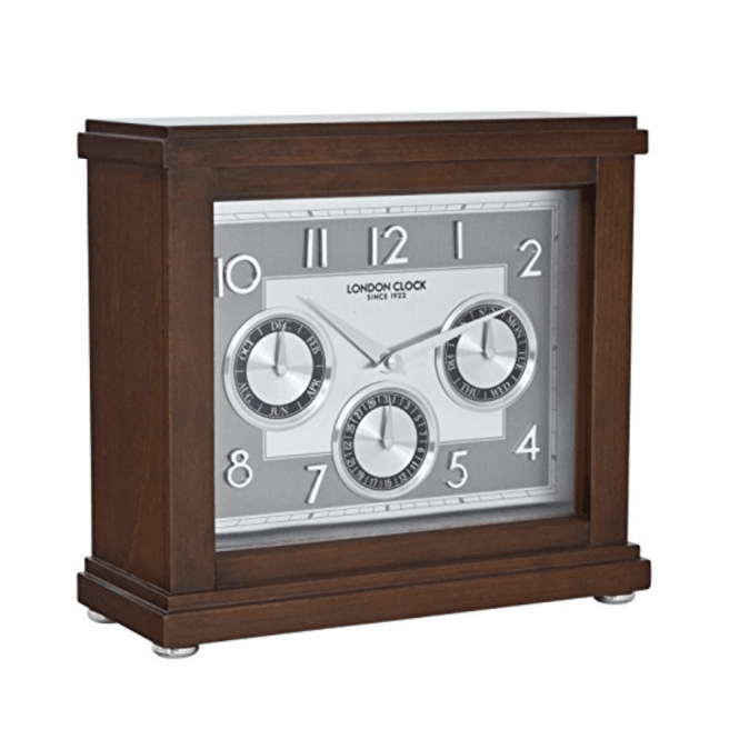 London Clock Company Flat Top Calendar Clock (06405)