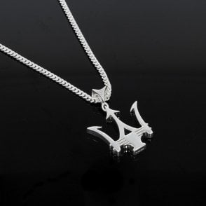 Sterling Silver Trident Pendant & Chain