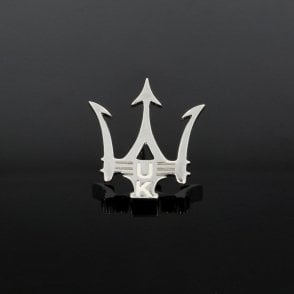 Sterling Silver UK Trident Tie Pin