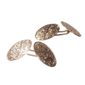 9ct Rose Gold Vintage Cufflinks
