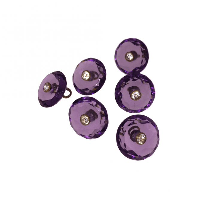 Mens Accessories Amethyst Glass Button Dress Stud Set
